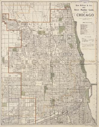 Chicago Map Streets.Rand Mcnally Co S New Street Number Guide Map Of Chicago 1910