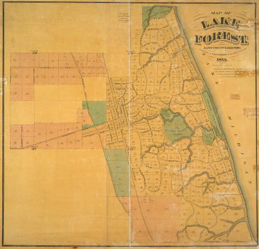 Map of Lake Forest, 1873