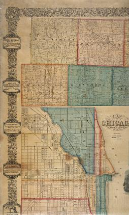 Plat Map Of Cook County 1861