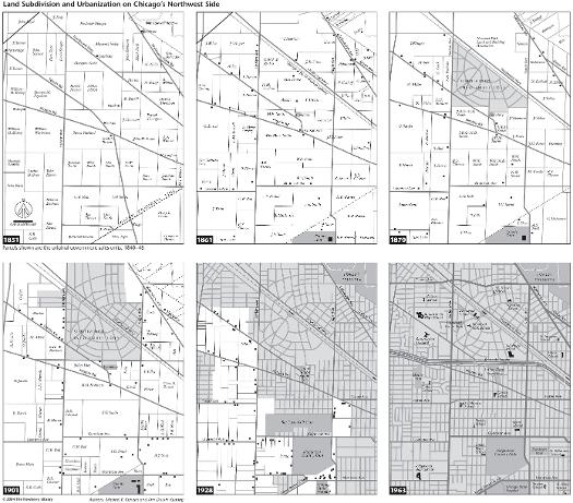 Northwest Chicago Map.Land Subdivision And Urbanization On Chicago S Northwest Side