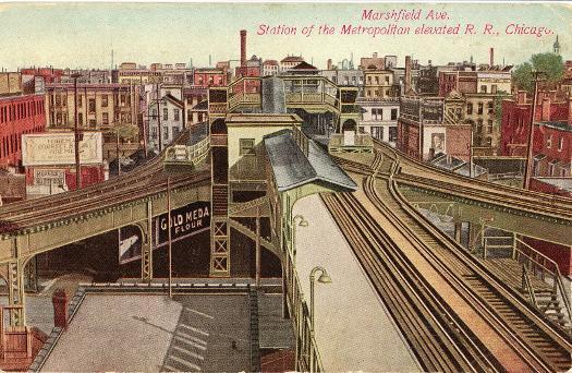 Marshfield Avenue Station Of The Metropolitan West Side